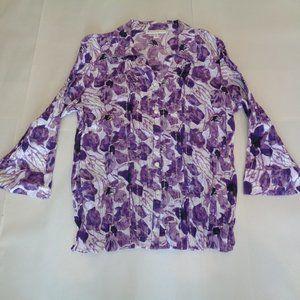 JM Collection Size 12P Petite Purple New Blouse